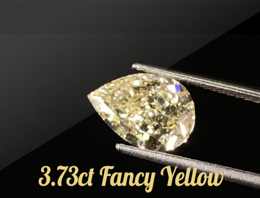 3.73ct黃色彩鑽石
