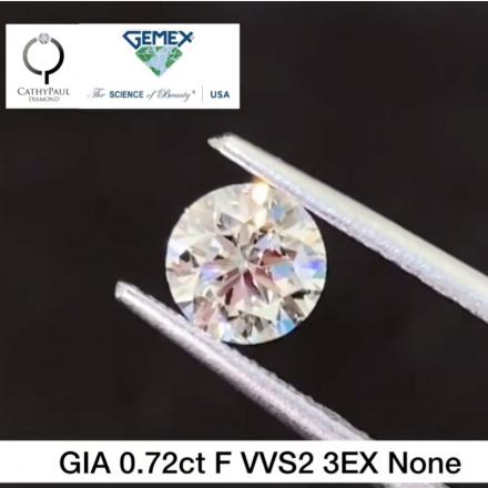 0.72ct F VVS2