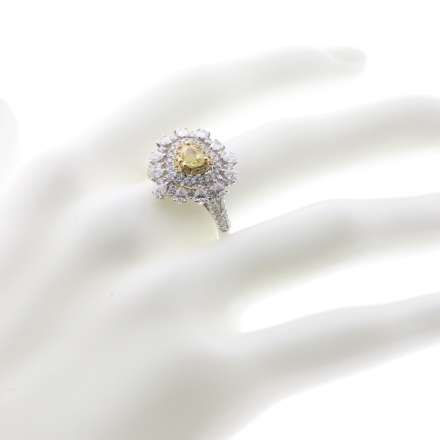 18K黃鑽石戒指