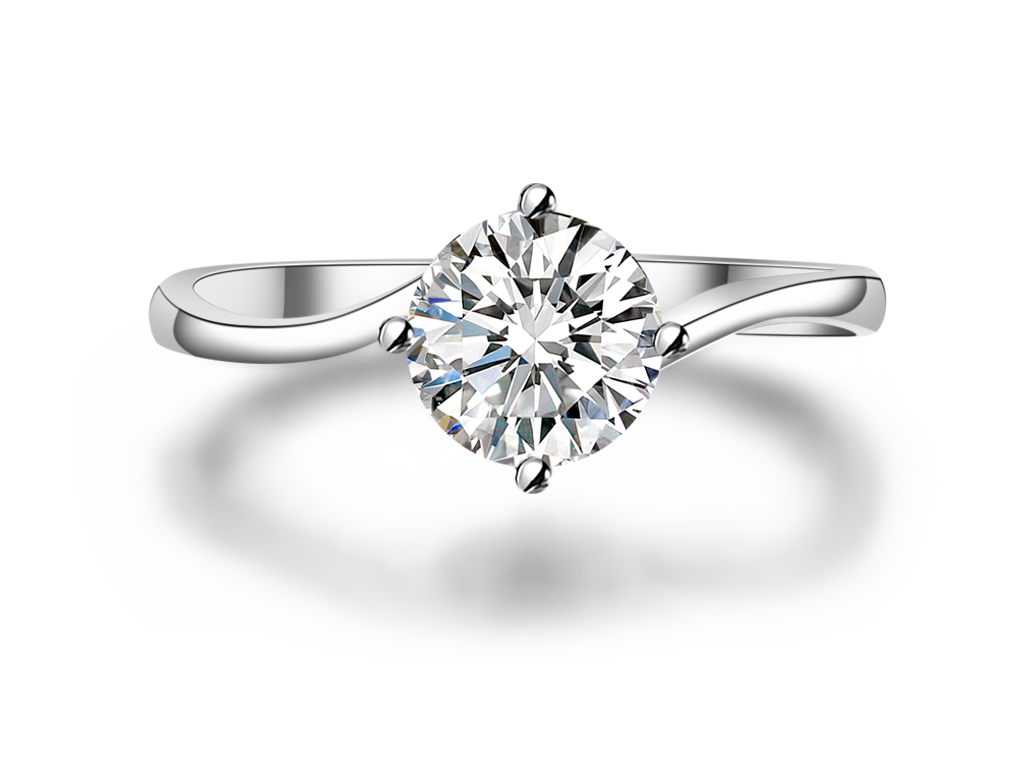 18K簡約時尚求婚戒指