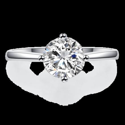 18K清鑲戒指