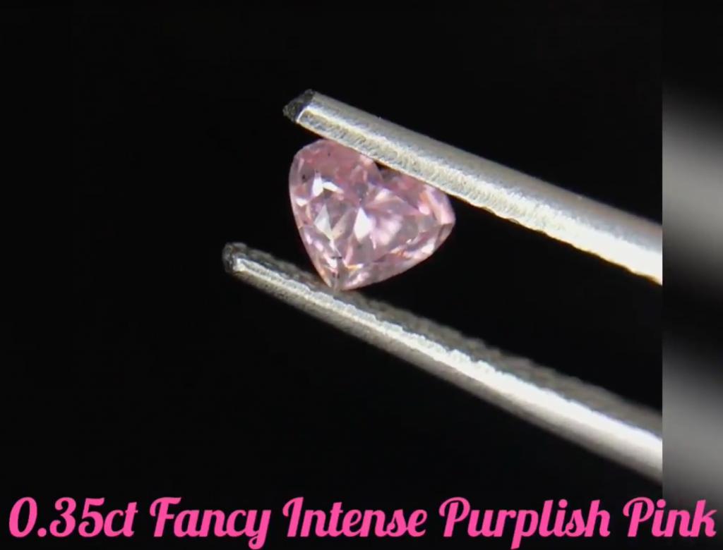 0.35ct粉紅彩鑽石