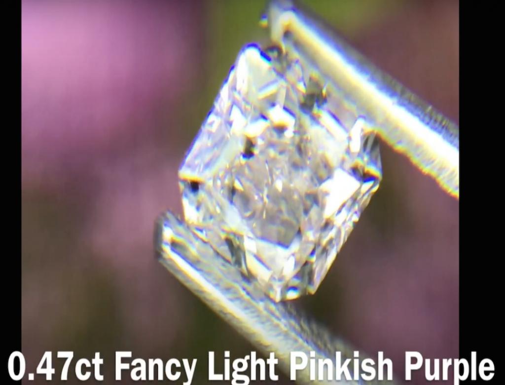 0.47ct粉紅紫色彩鑽石