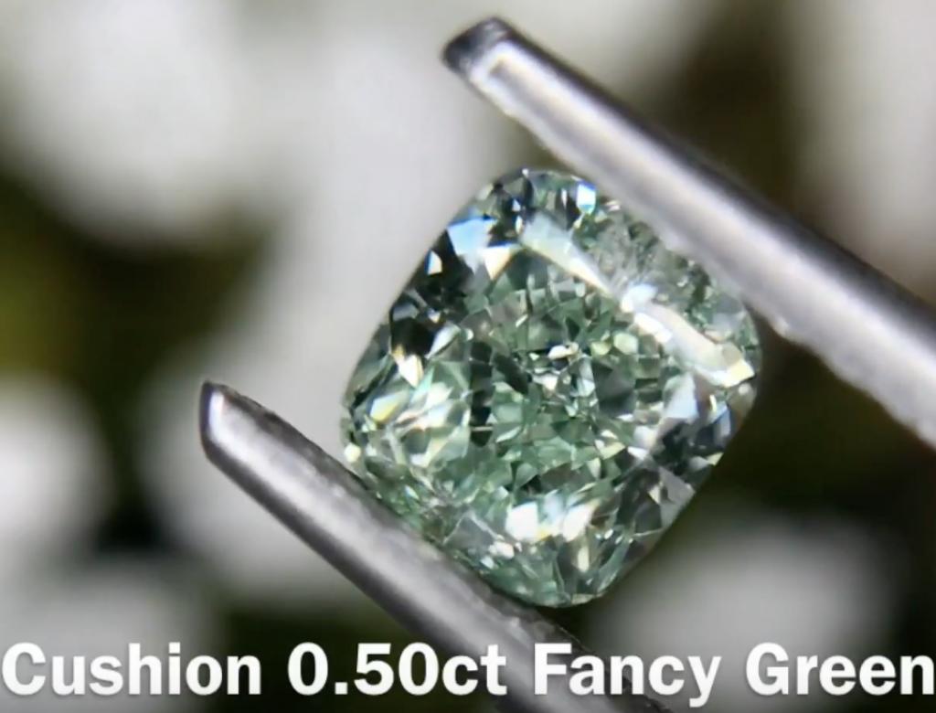 0.50ct綠色彩鑽石