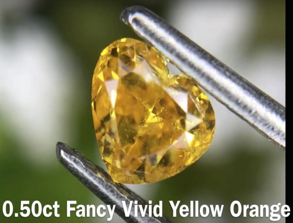 0.50ct黃色彩鑽石
