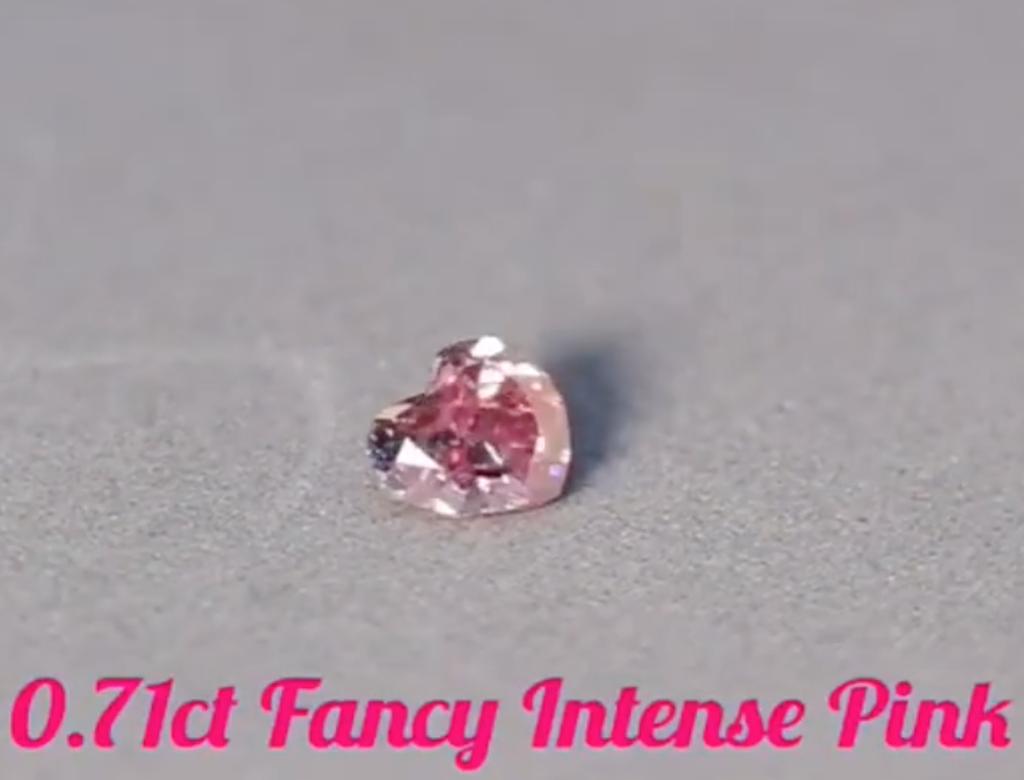 0.71ct粉紅彩鑽石