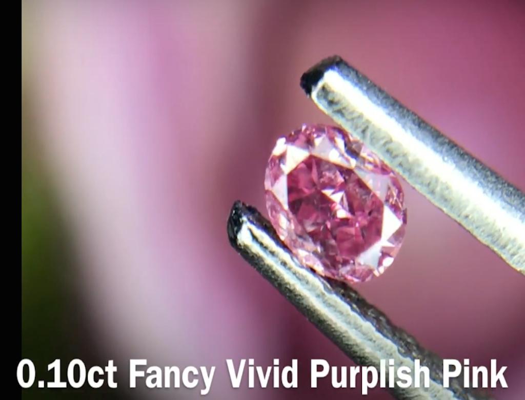 0.10ct粉紅彩鑽石