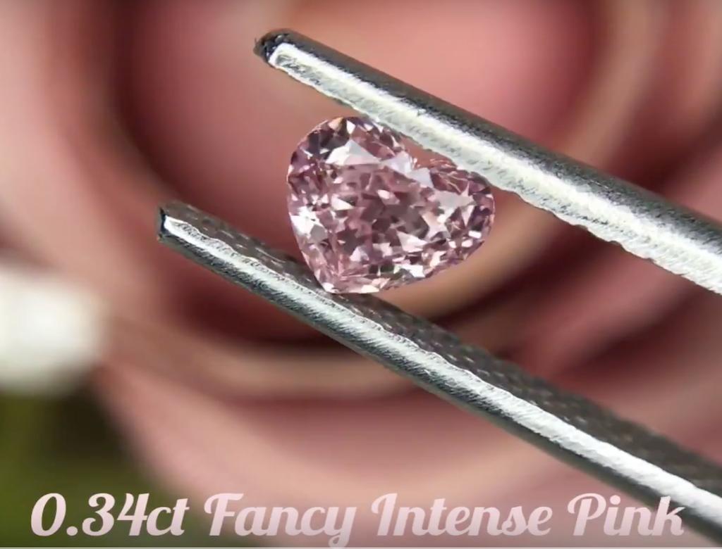 0.34ct粉紅彩鑽
