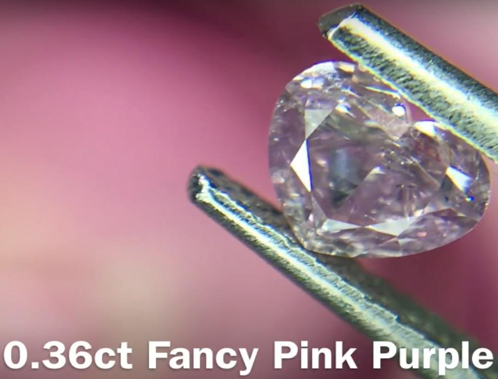 0.36ct粉紅彩鑽石