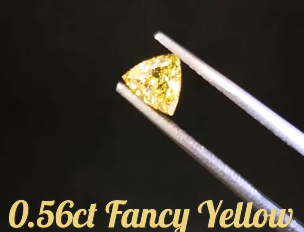 0.56ct黃色彩鑽石